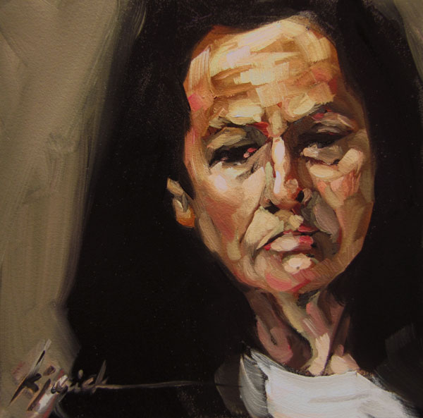 """100 Faces, No. 58"" original fine art by Karin Jurick"