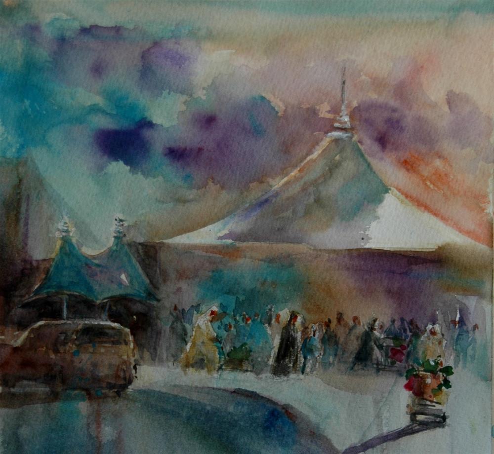 """""""A vegeable souq in Al Ain"""" original fine art by Midori Yoshino"""