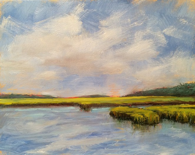 """Carolina Calm"" original fine art by Deborah Newman"