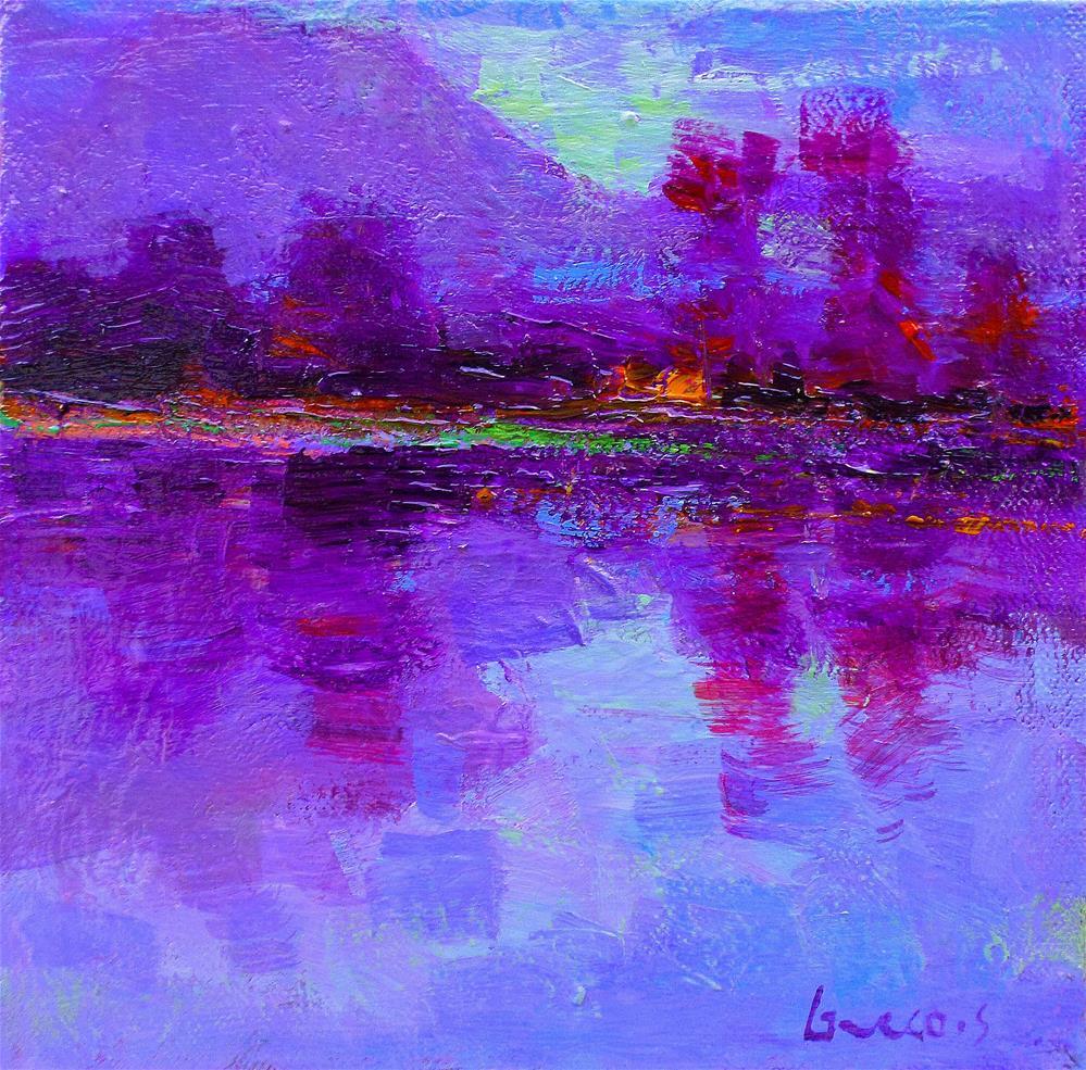 """My beautiful autumn regionfrench"" original fine art by salvatore greco"
