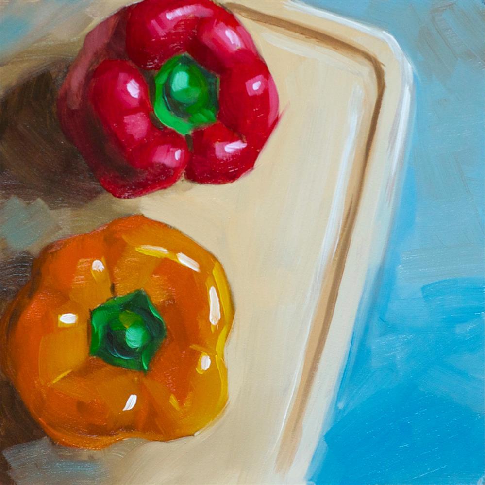 """Peppers"" original fine art by Heather Bullach"