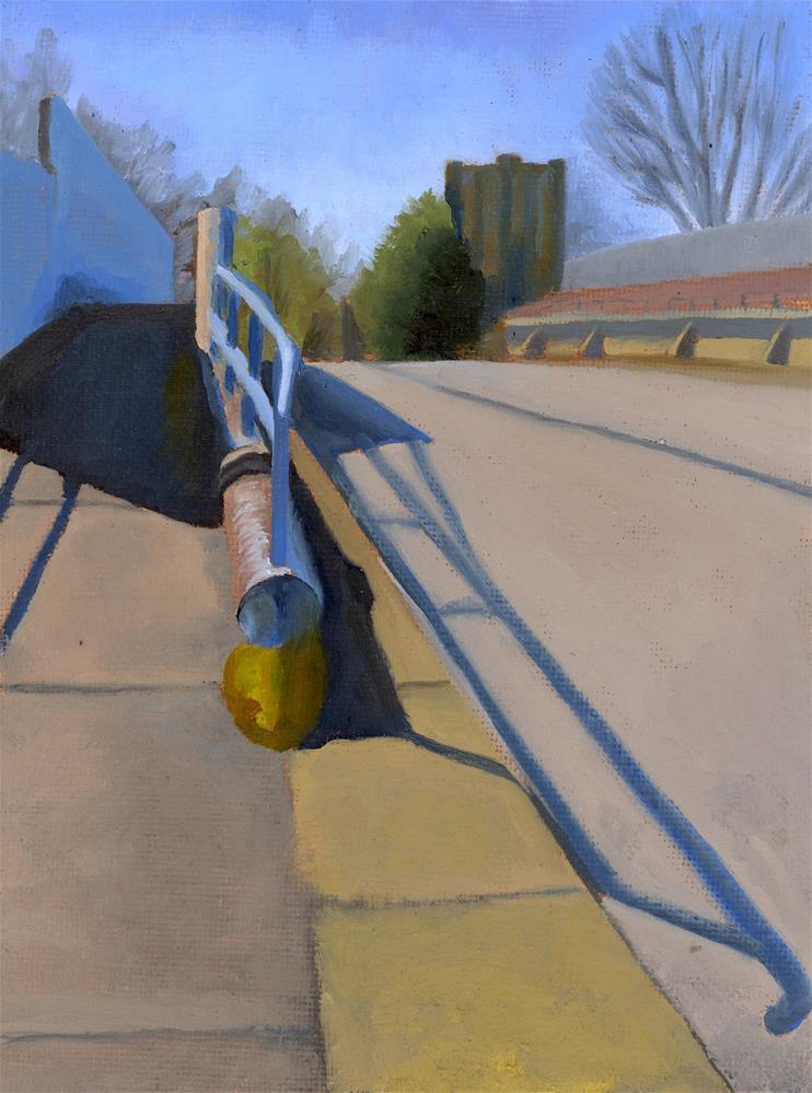 """Narberth Bridge"" original fine art by Nancy Herman"