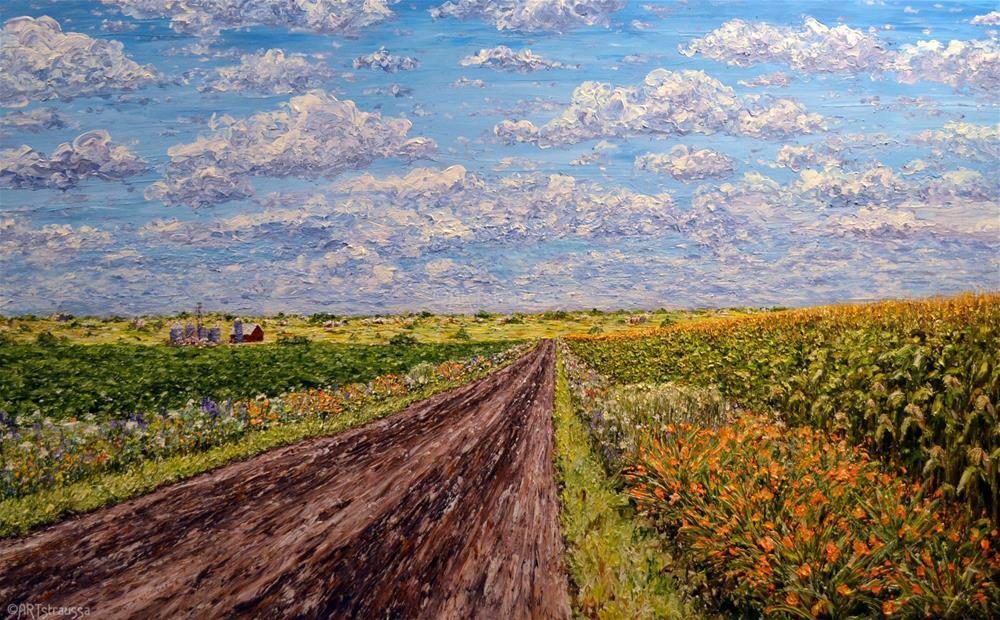 """Fields of Illinois"" original fine art by Gloria Ester"