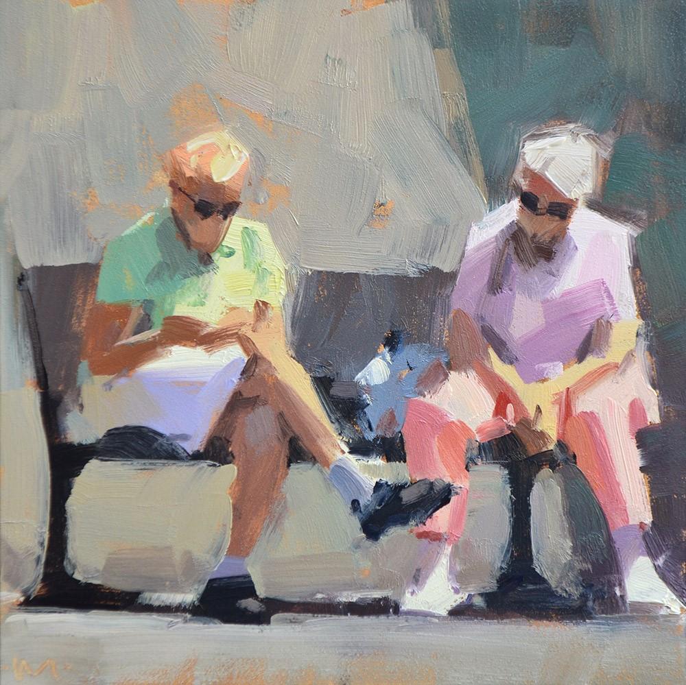 """Waiting Patiently"" original fine art by Carol Marine"