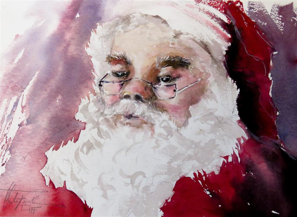 """Santa"" original fine art by Christa Friedl"