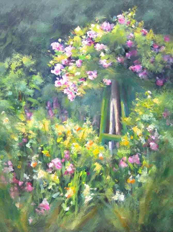 """""""Rose Arbor"""" original fine art by Pat Fiorello"""