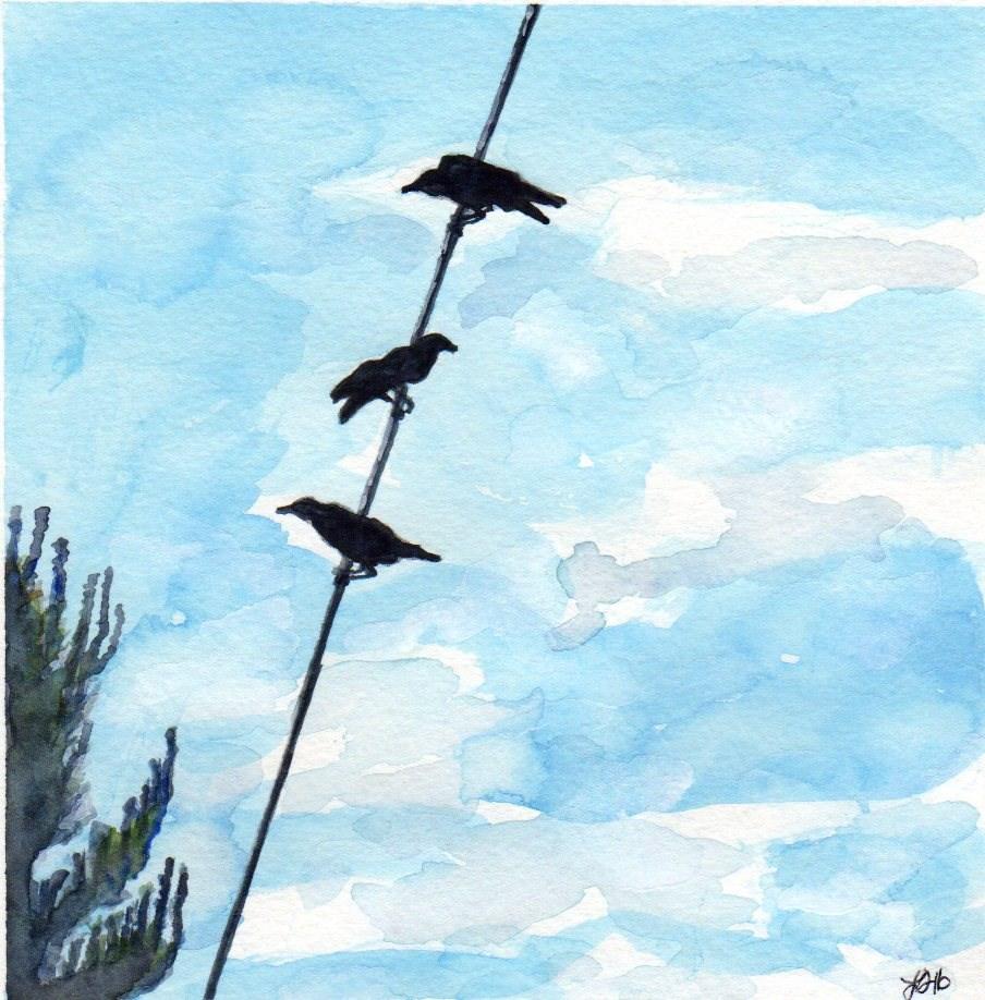 """Chat Room"" original fine art by Laura Denning"