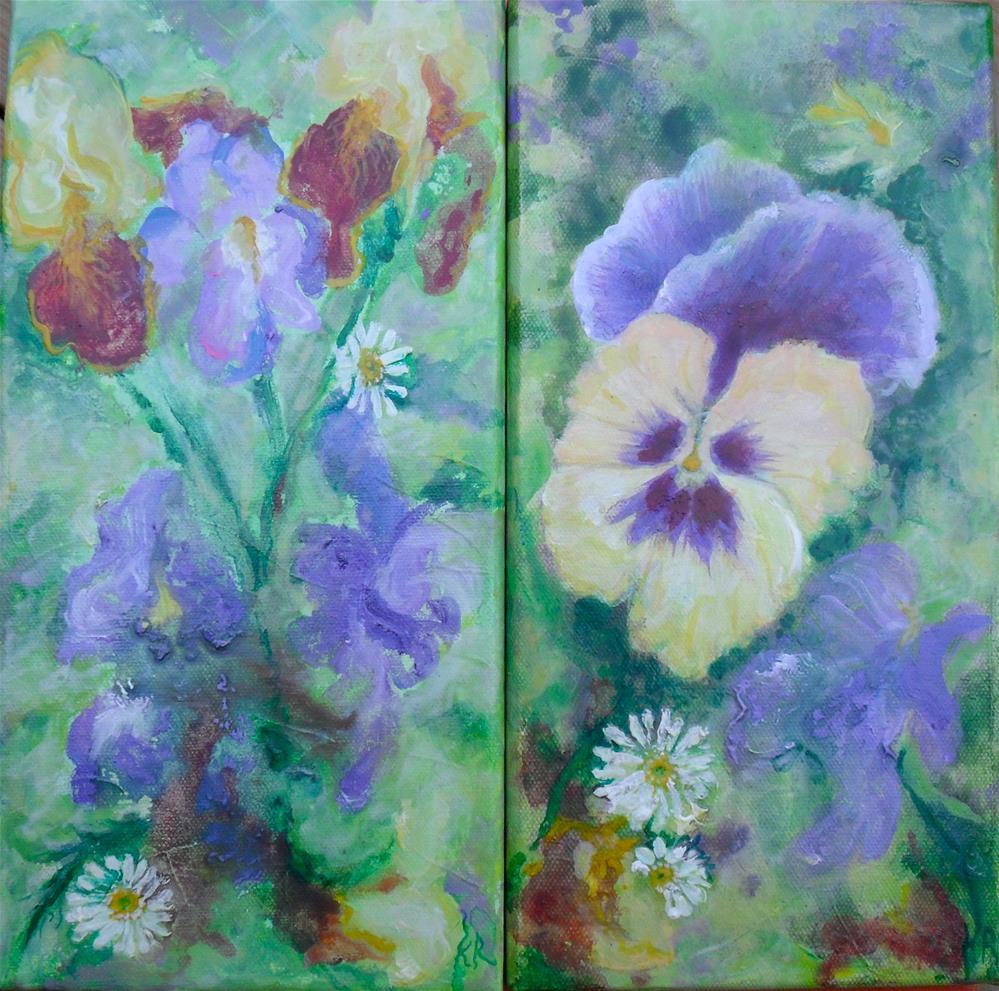 """Flower Favorites"" original fine art by Karen Roncari"