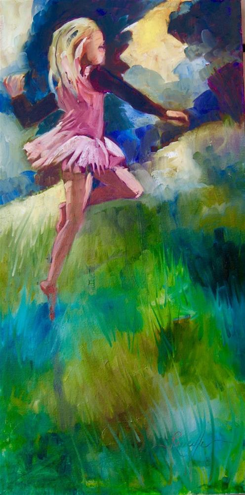 """""""Dancing In the Fields of Grace"""" original fine art by Reveille Kennedy"""