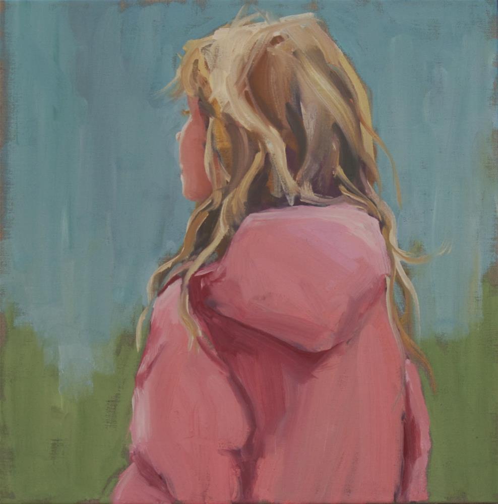 """golden haired"" original fine art by Carol Carmichael"