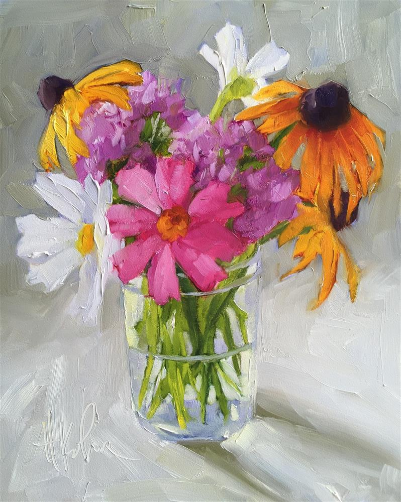 """Late Bloomers"" original fine art by Hallie Kohn"