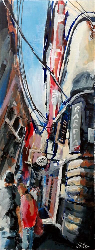 """""""2389 Palma Streetview 2"""" original fine art by Dietmar Stiller"""