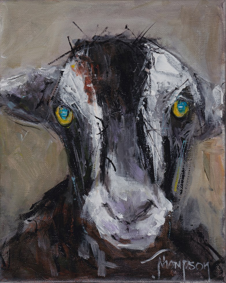 """Farm Goat"" original fine art by Norma Thompson"
