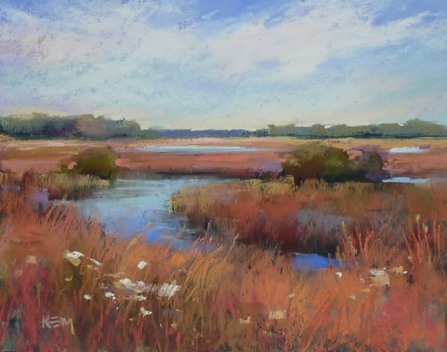 """New Digital Demo Available...Painting an Autumn Marsh"" original fine art by Karen Margulis"