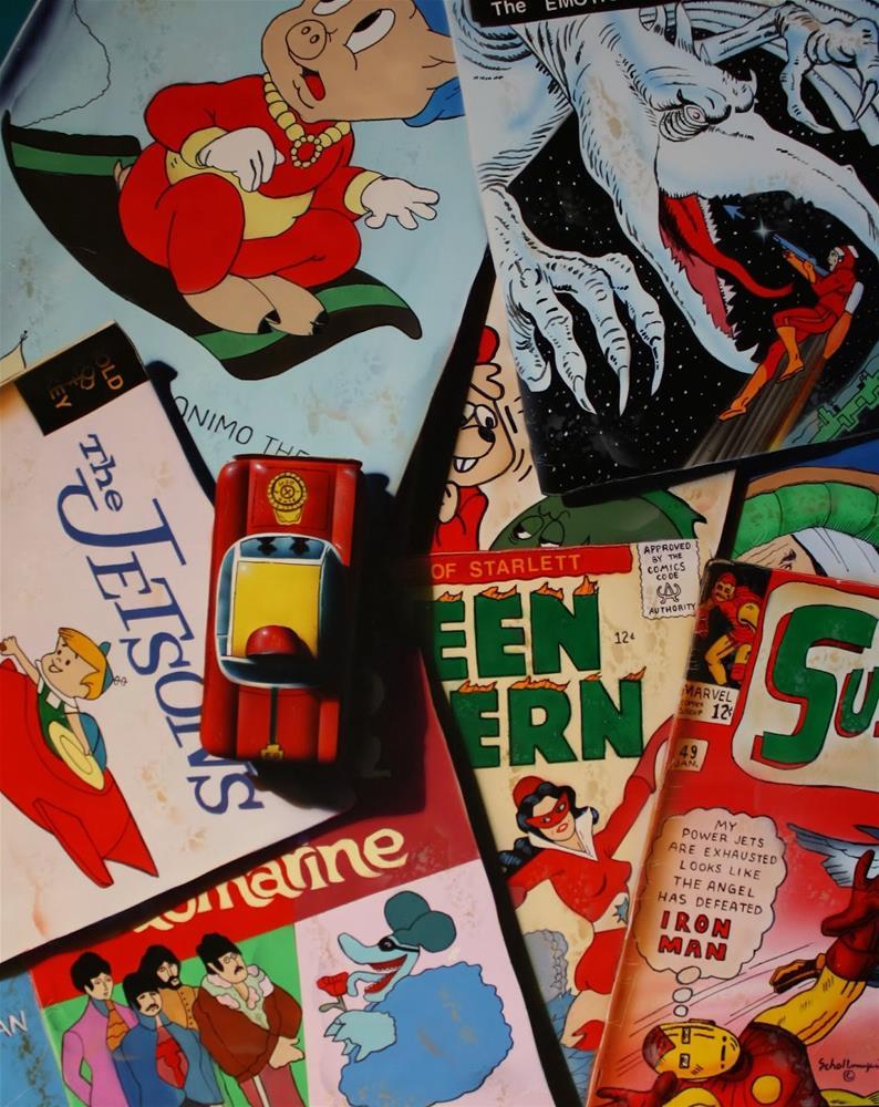 """Comics & Car"" original fine art by Fred Schollmeyer"