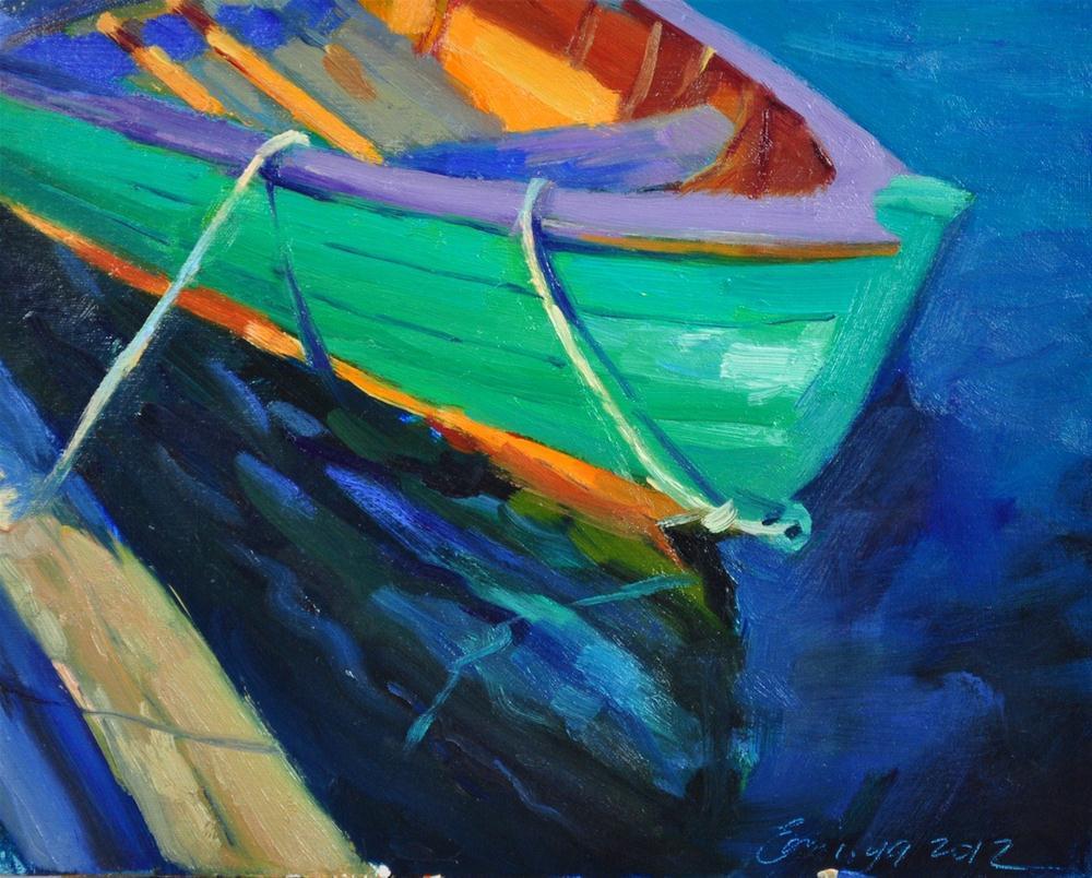 """Light Beeze 8x10 oil on linen"" original fine art by Emiliya Lane"