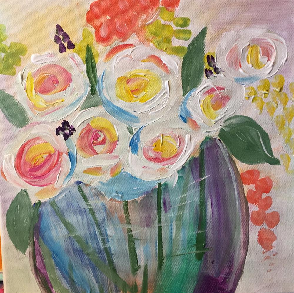 """""""Just a pop of color"""" original fine art by Yvonne Snead"""