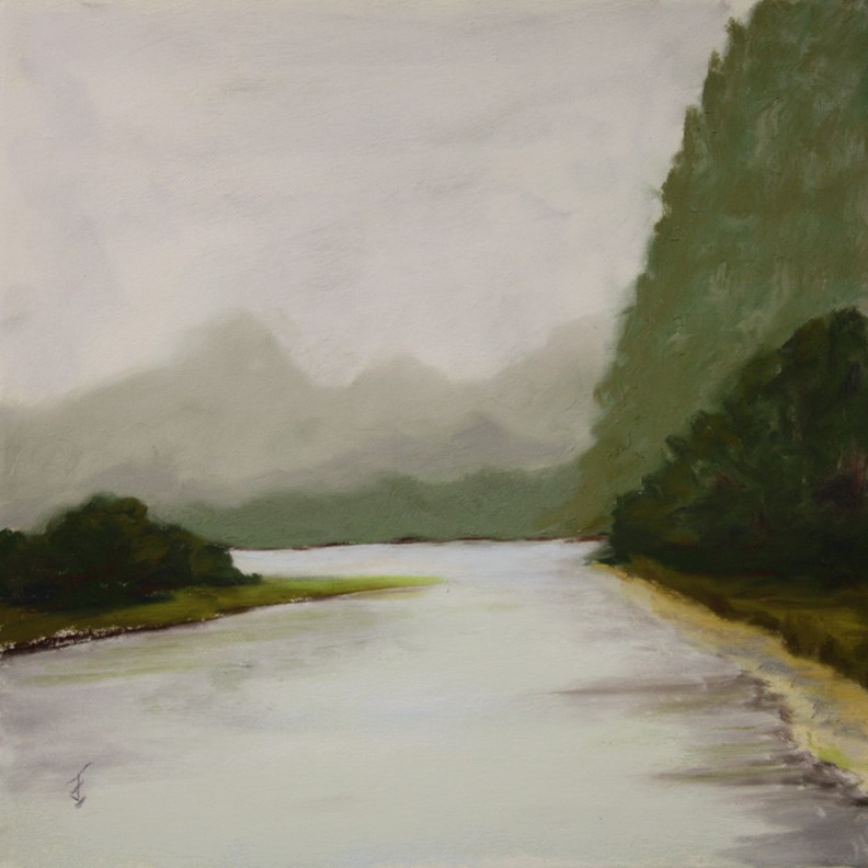 """Li River Haze 3"" original fine art by Jane Frederick"