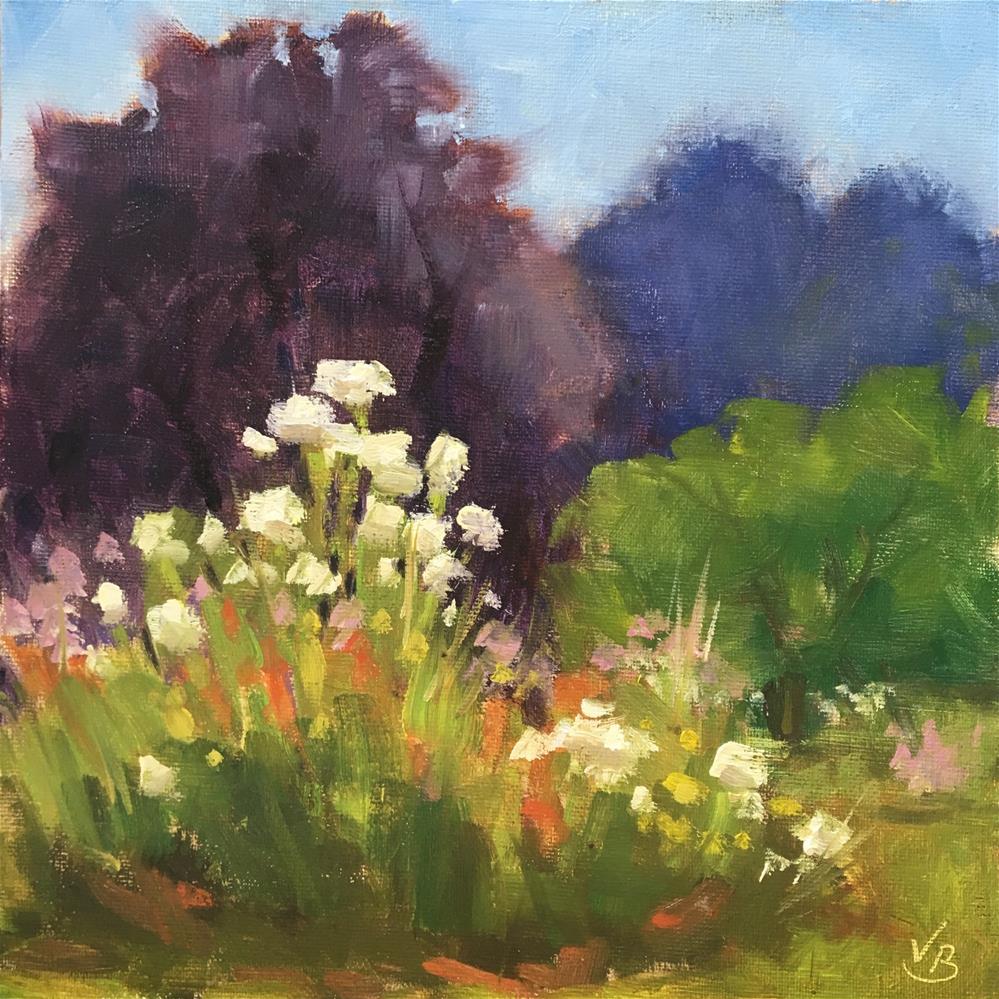 """View in the Rose Garden"" original fine art by Victoria  Biedron"