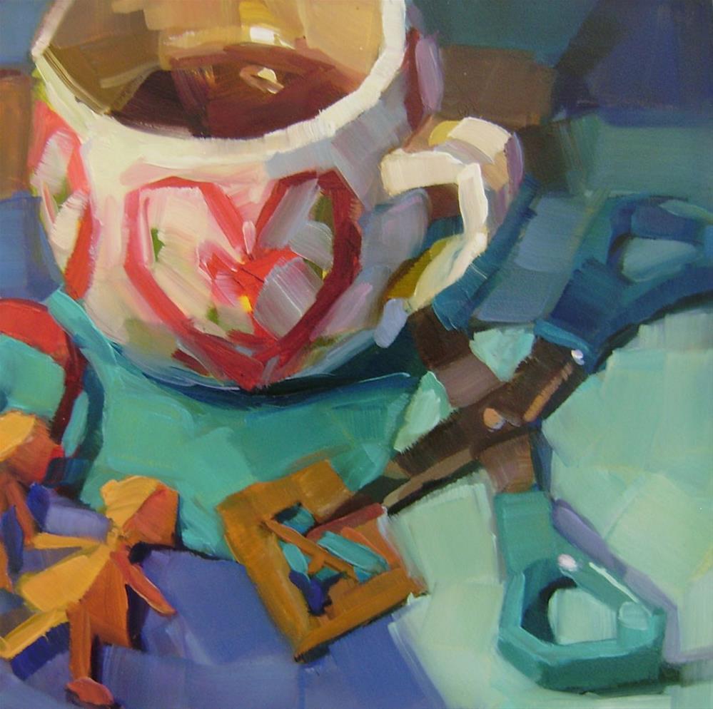 """Coffee Break"" original fine art by Holly Storlie"