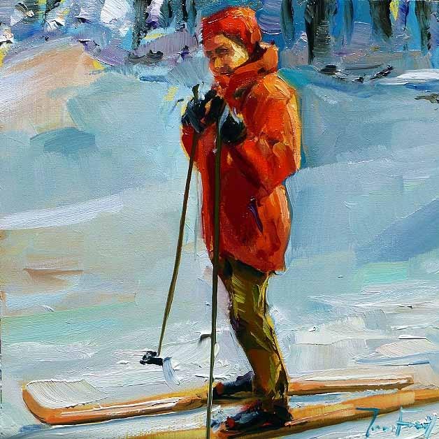 """runner"" original fine art by Jurij Frey"