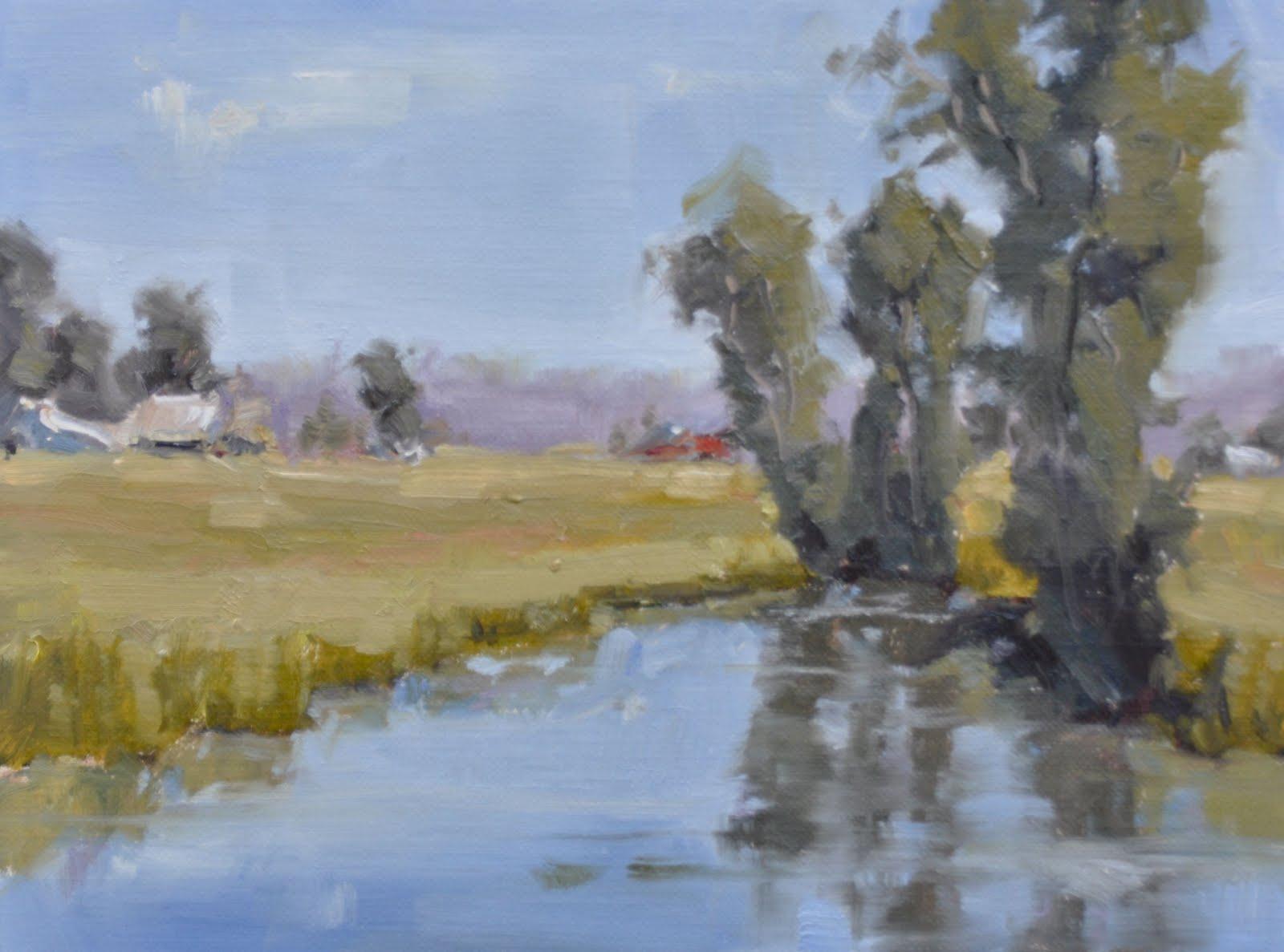 """""""Quiet Pond"""" original fine art by Julie Davis"""