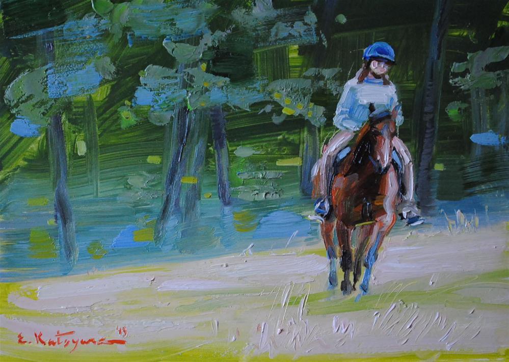 """A Horse Called Ivy NFS"" original fine art by Elena Katsyura"