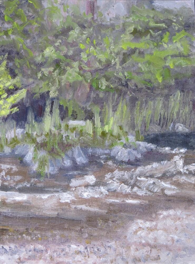 """Summer on the Applegate River"" original fine art by Richard Kiehn"