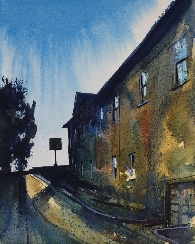 """Old City Hall Lockport"" original fine art by Chris Breier"