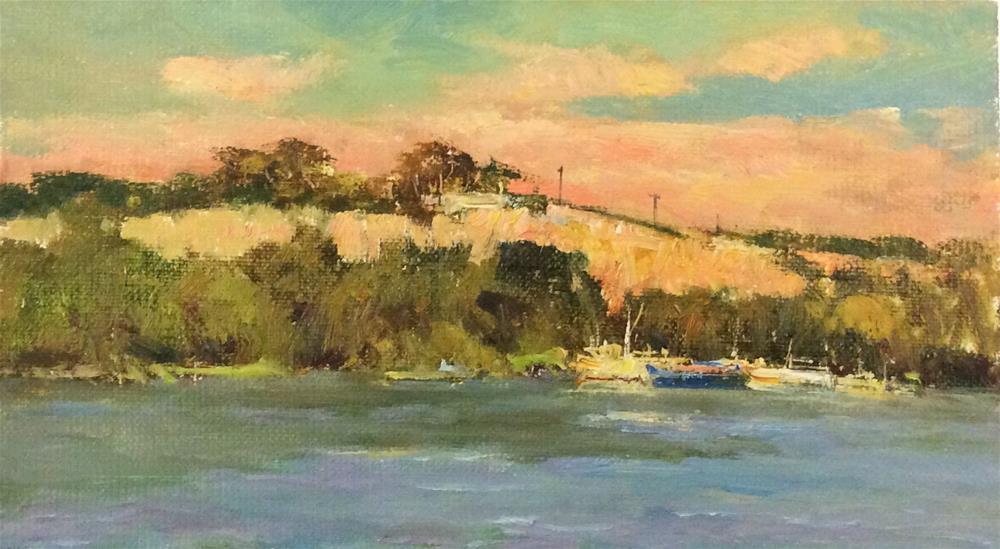 """Sunset"" original fine art by John Shave"