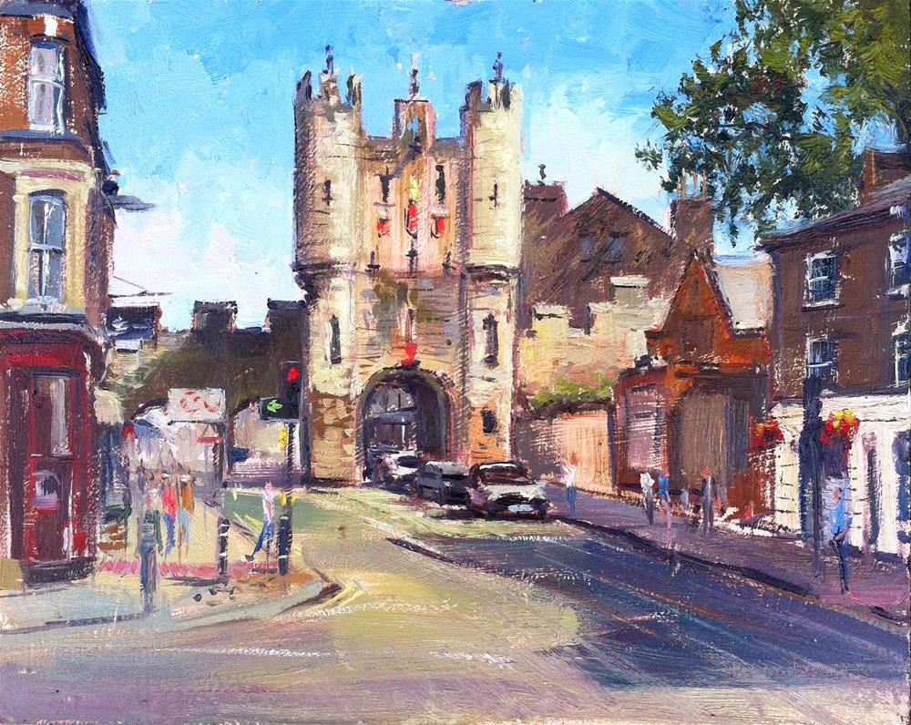 """Summerlight, Micklegate Bar."" original fine art by Adebanji Alade"