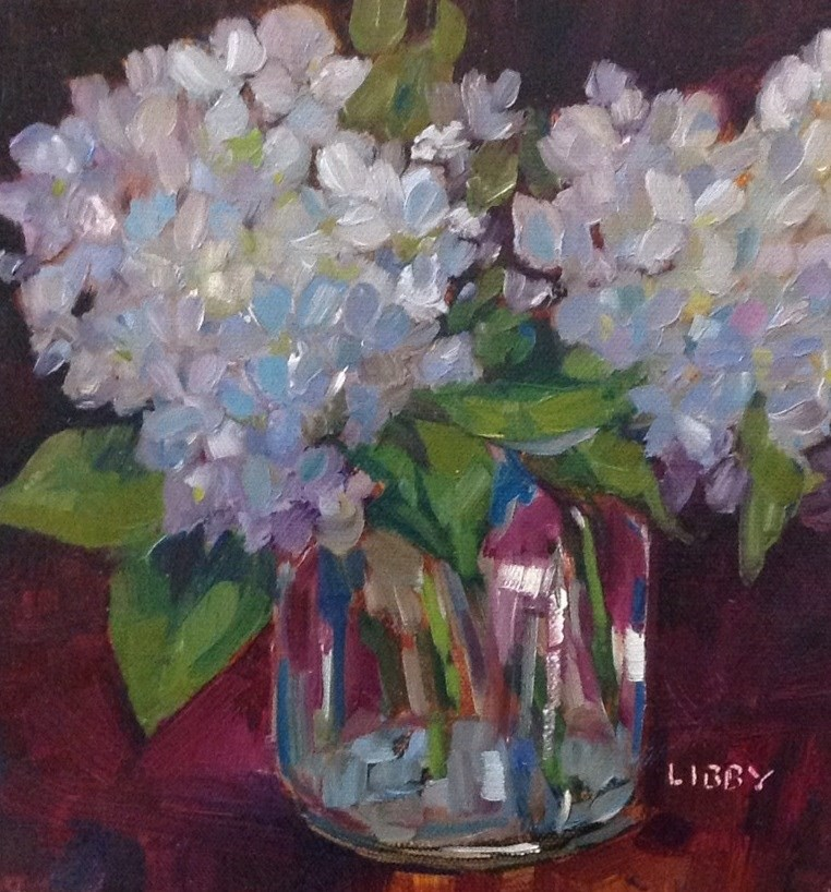 """""""Blue in Vase"""" original fine art by Libby Anderson"""