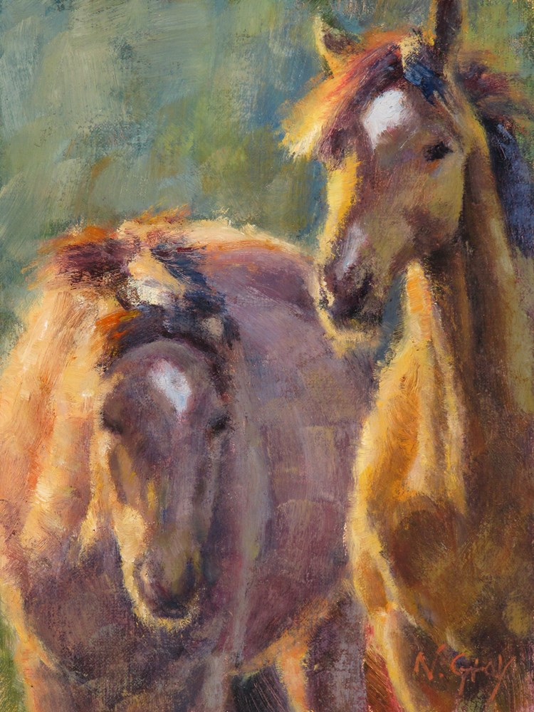 """Twin Stars"" original fine art by Naomi Gray"