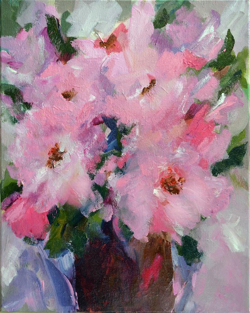 """I Think in Pink"" original fine art by Pamela Gatens"