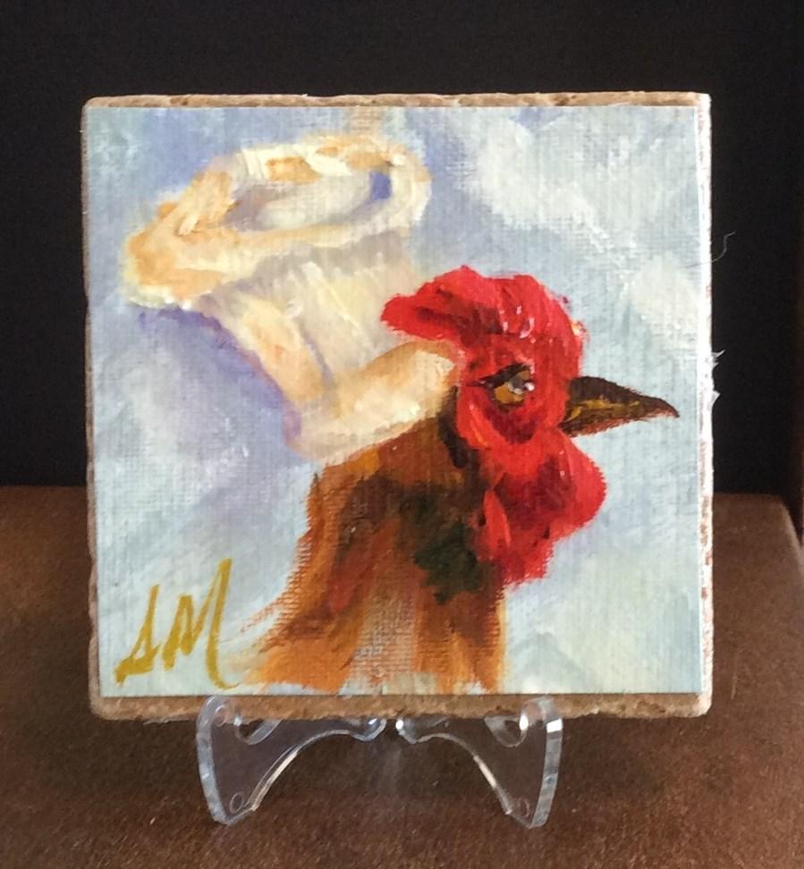 """Chef Cordon Bleu"" original fine art by Susie Monzingo"