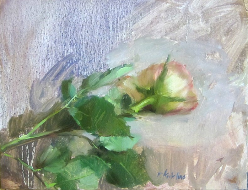 """rose"" original fine art by Taisia Kuklina"