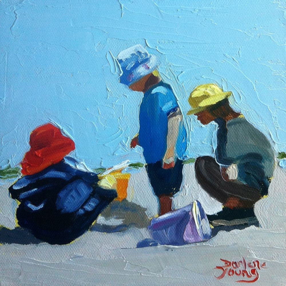 """536 Cool Caps"" original fine art by Darlene Young"