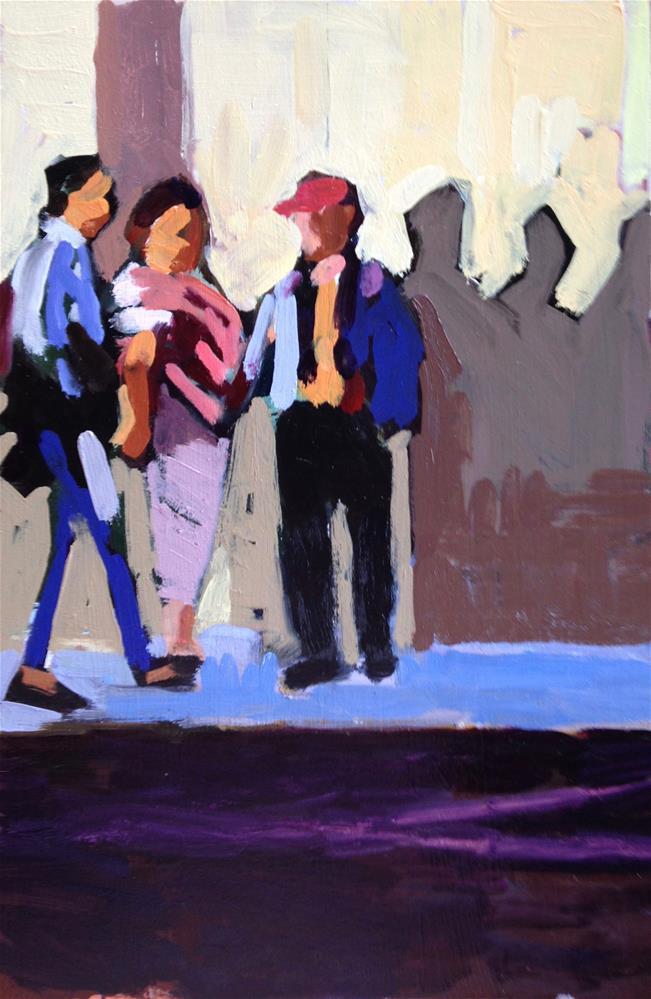 """Waiting For David Hockney"" original fine art by Pamela Hoffmeister"