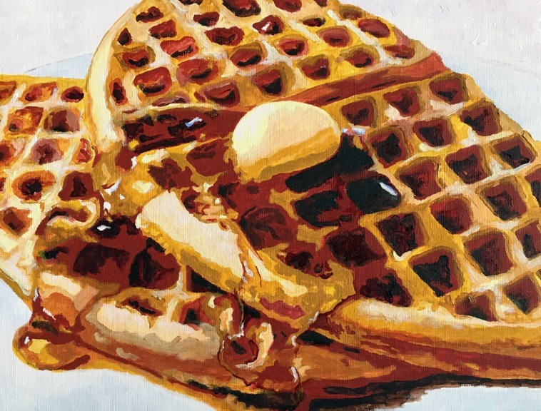 """""""With Syrup & Butter"""" original fine art by Nan Johnson"""