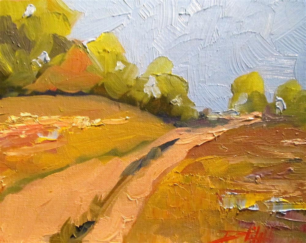 """Country Roads No. 2"" original fine art by Delilah Smith"