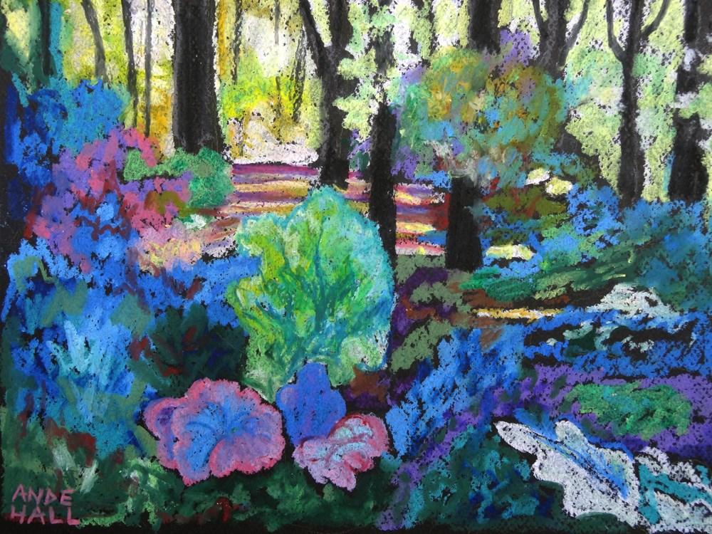 """Leah's Backyard 2"" original fine art by Ande Hall"