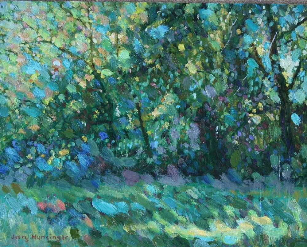 """Across the Road"" original fine art by jerry hunsinger"
