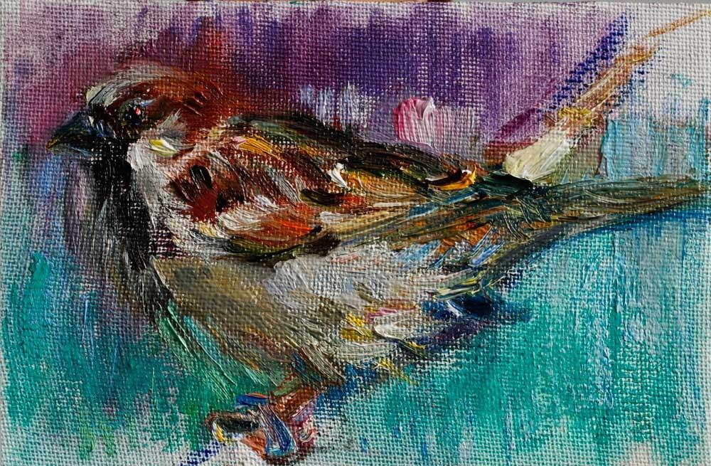 """""""Little Sparrow Bird"""" original fine art by Anna Fine Art"""