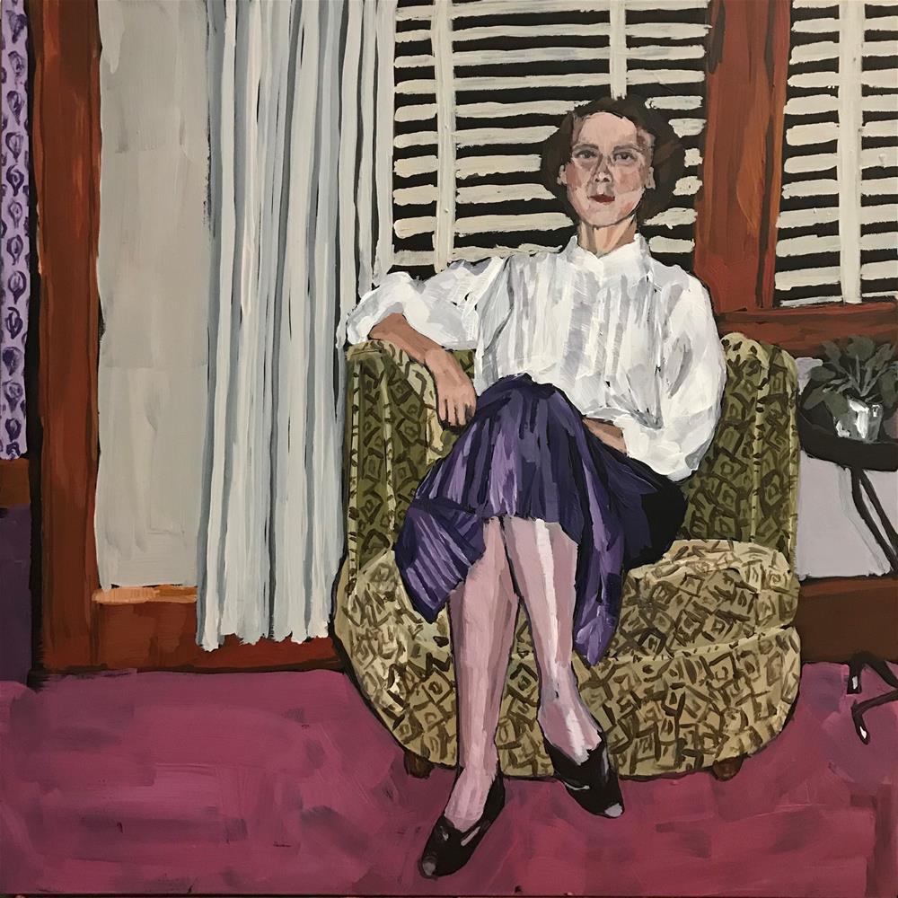 """Marge Koppi circa 1959"" original fine art by Gina Garding"
