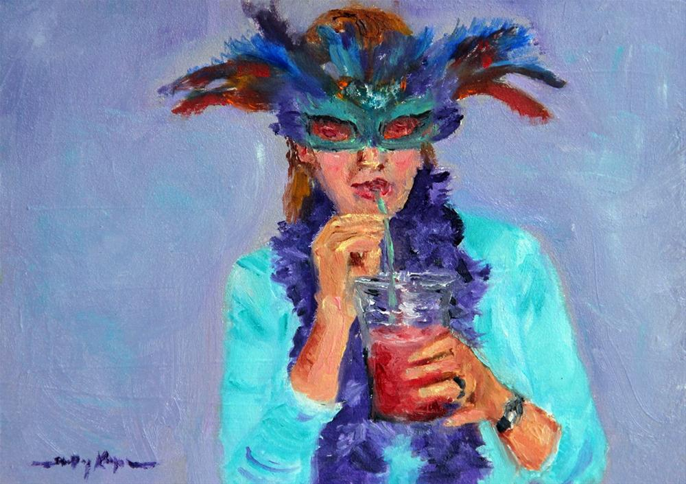 """Mardi Gras Mama"" original fine art by Shelley Koopmann"