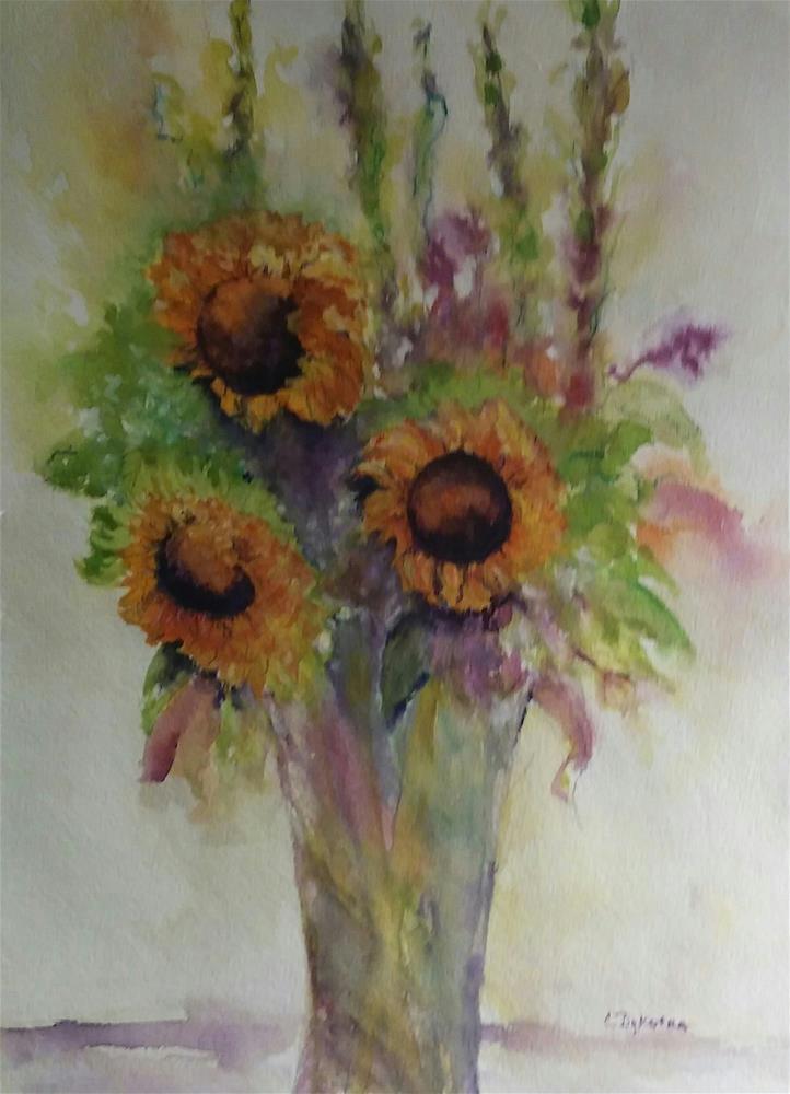 """Sun Flowers"" original fine art by Cathy Dykstra"