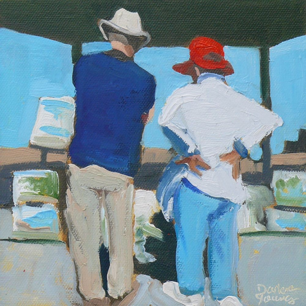 """532 The Critique"" original fine art by Darlene Young"