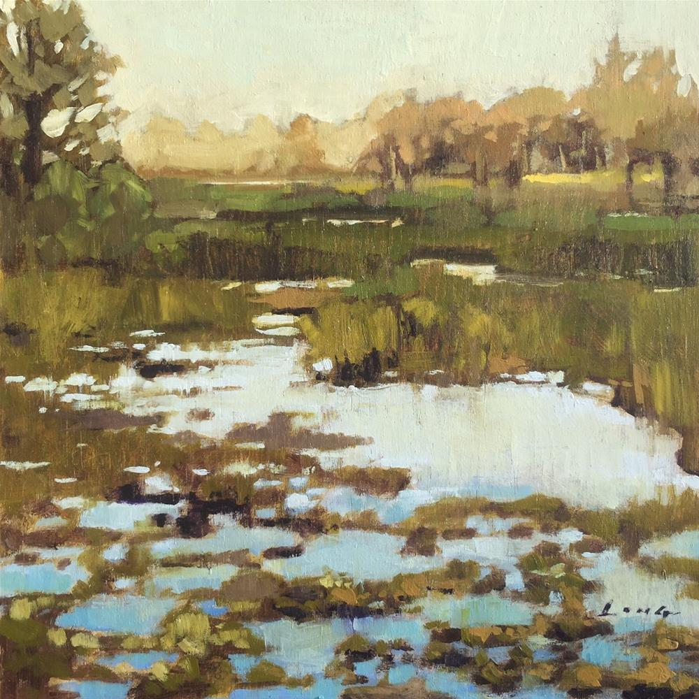 """Marsh, Northern Oregon"" original fine art by Chris Long"