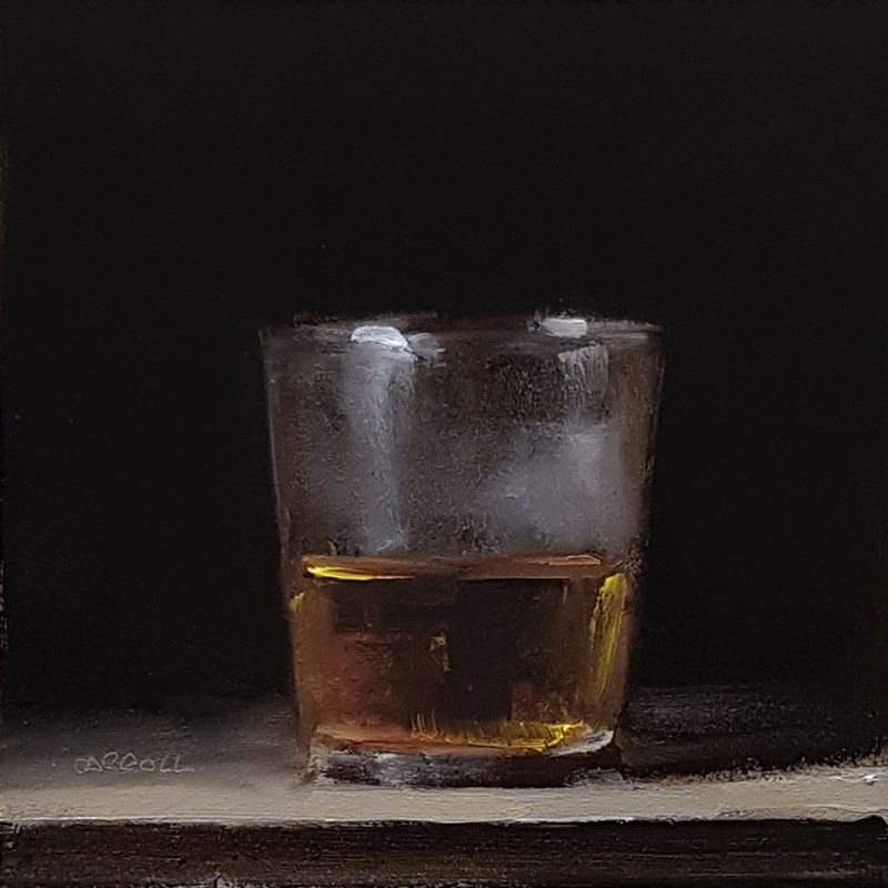 """Glass of Whiskey"" original fine art by Neil Carroll"