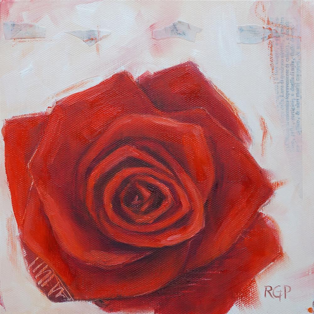 """""""Red Rose"""" original fine art by Rhea  Groepper Pettit"""
